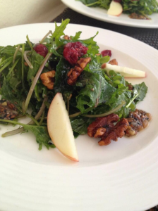 kale and acai berries Superfood lunch dish at La Tour Restaurant & bar